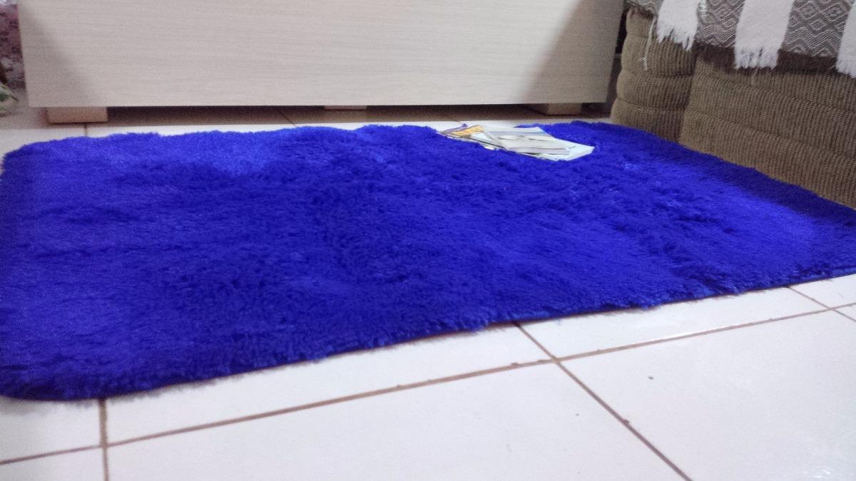 Tapete Peludo Antiderrapante Azul Royal Infantil 2 00×1 20m R 99  -> Fotos De Tapetes Peludos