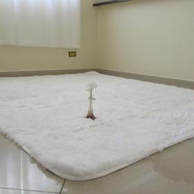 Tapete Peludo Branco Decoração Sala/quarto