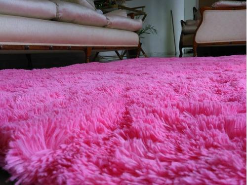 Tapete Rosa Onde Comprar : Tapete Peludo Quarto Sala 2,00×2,40m Rosa Claro Luxo – R$ 199,99 em