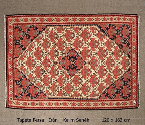 tapete persa - irán - kelim sené - 120x163cm. - decoração