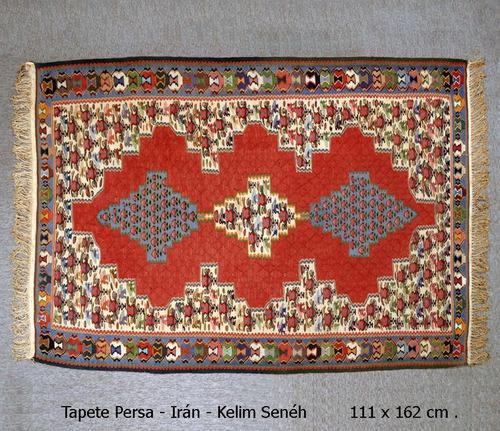 tapete persa - irán - kelim senéh - 111x162cm - decoração
