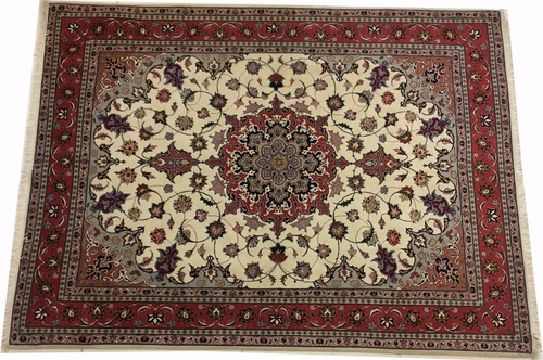 tapete persa tabriz nakche 50raj artesanal 207x153cm 2x1,5m