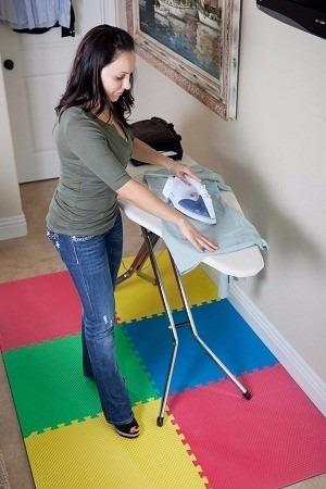 tapete piso fomi 120 x 120cm 4 láminas niños bebé hogar