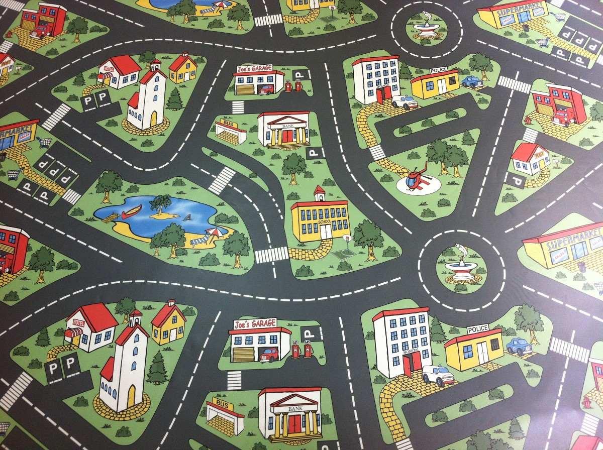 tapete pista cidade para hot wheels infantil 2m x 1m r 280 00 em mercado livre. Black Bedroom Furniture Sets. Home Design Ideas