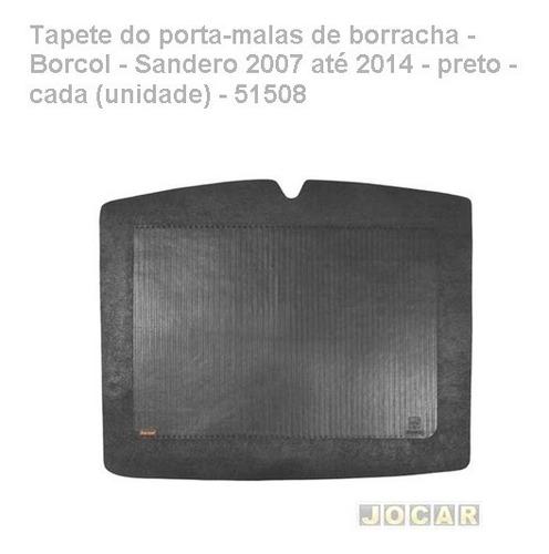 tapete porta-malas borracha-borcol-sandero 2007/2014-preto