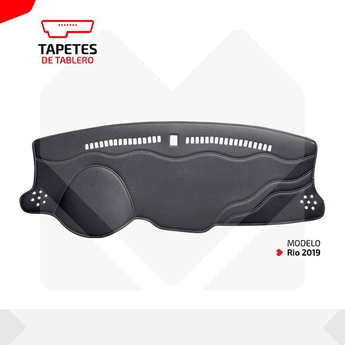 tapete protector de tablero exclusivo kia rio 20018 al 2020