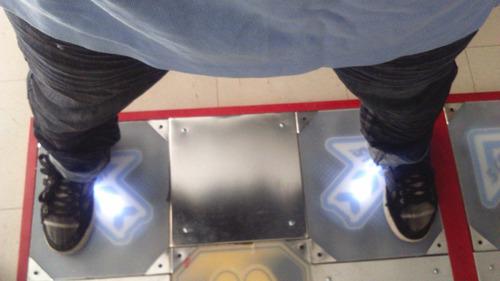 tapete pump it up doble con luces con barra premium