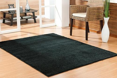 tapete quarto e sala classic 1,50 x 2,00 - cor preto