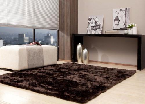 tapete quarto sala peludo1,00 x 1,50 m duo