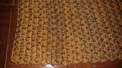tapete rectangular, crochet de jareta