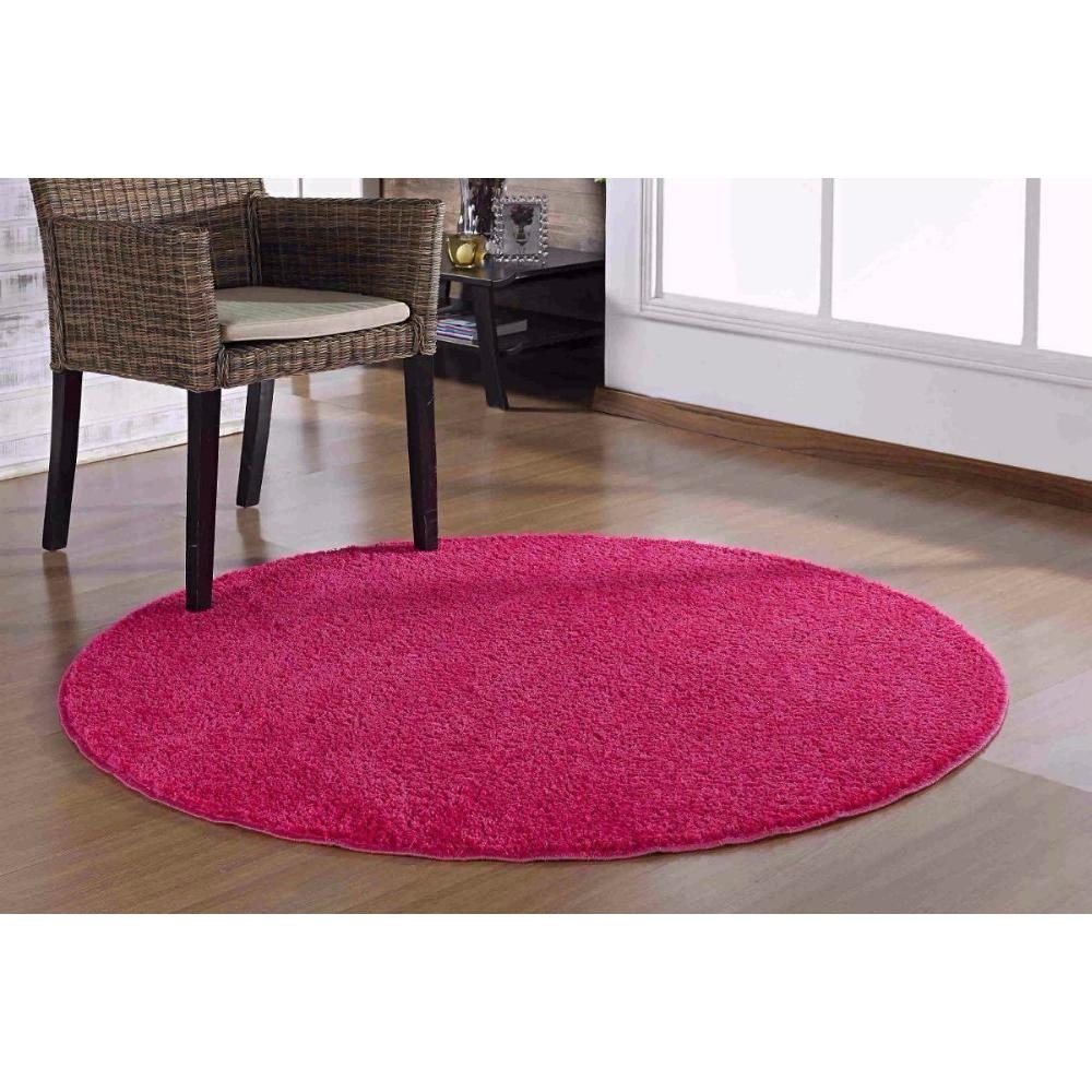 Tapete Redondo 1 5m Classic Rosa Pink Oasis Tapetes R 163 90 Em  -> Oasis Tapetes