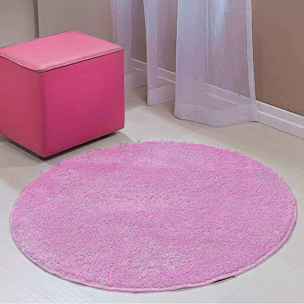 Tapete redondo classic sala e quarto 1 00 x 1 00 cor for Rosa tapete