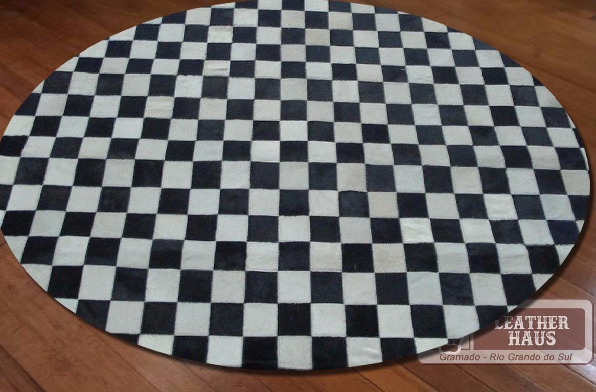 tapete redondo xadrez preto e branco. Carregando zoom. ea4b2056f6d