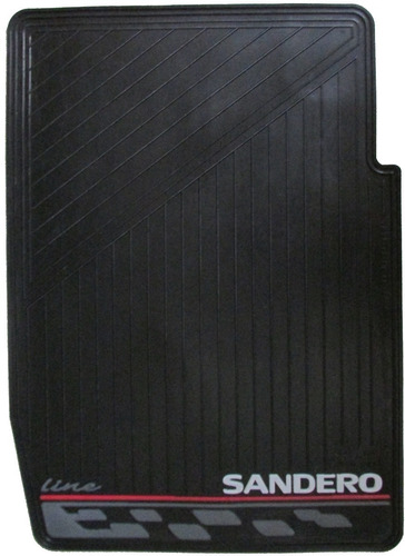tapete renault sandero plástico caucho 3 piezas carro