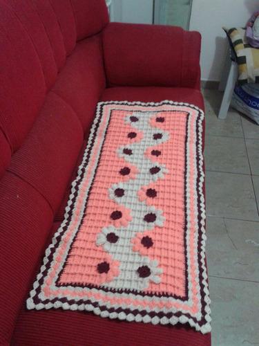 tapete retangular salmão 100x50 cm