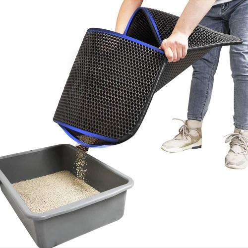 tapete retencion de arena p/gato afuera arenero 76.2x63.5 cm