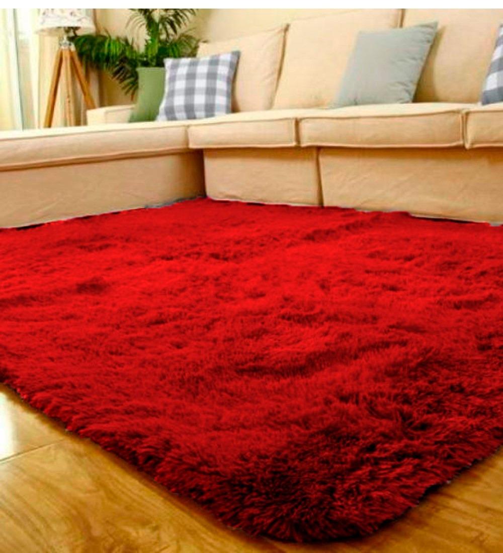 Tapetes Vermelhos Comprar Tapete Vermelho Tapetes: Tapete Sala 2,00x2,40 Felpudo Peludos Vermelho Cereja