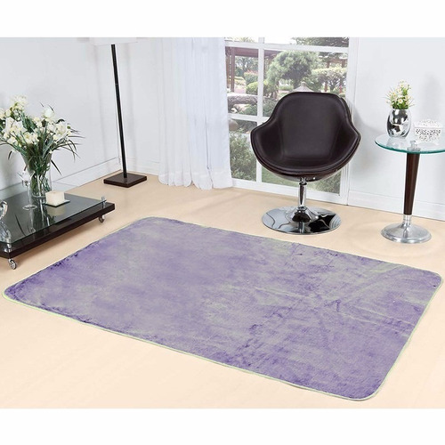 tapete sala quarto liso pelúcia lilás pelucia 2,00m x 1,40m