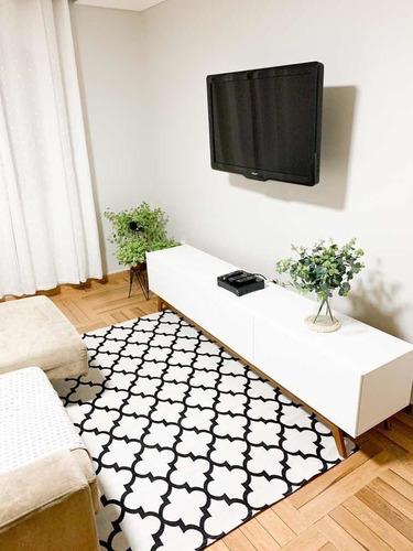 tapete sala quarto luxo 1,32m x 2,50m antiderrapante supreme