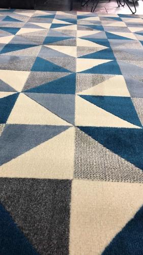 tapete sala são carlos 1,50 x 2,00 moderno supreme ladrilho