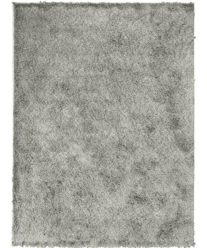 tapete sala super peludo galant prata 3,00x4,00 são carlos