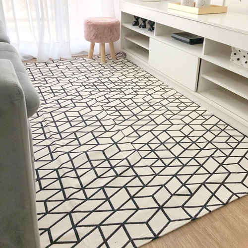 tapete sala texas geométrica 1,32mx3,00m antiderrapante