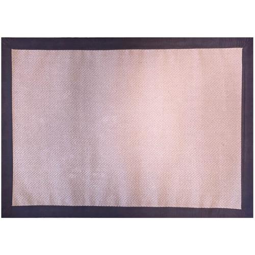 tapete si-karai yute con cenefa tipo piel 120x165 cm beige