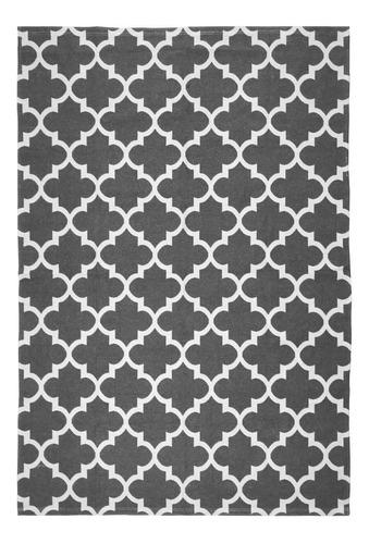 tapete supreme 1,32 m x 3,00 m antiderrapante cinza/cru
