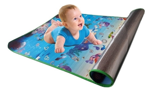 tapete tatame infantil para bebe termico de atividades emborrachado dobravel 1,80 x 1,20 grande