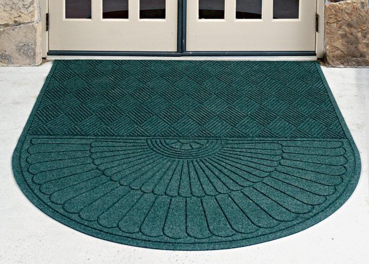 Tapete tipo alfombra medio ovalo color verde de 182x213 cm for Alfombra verde para jardin