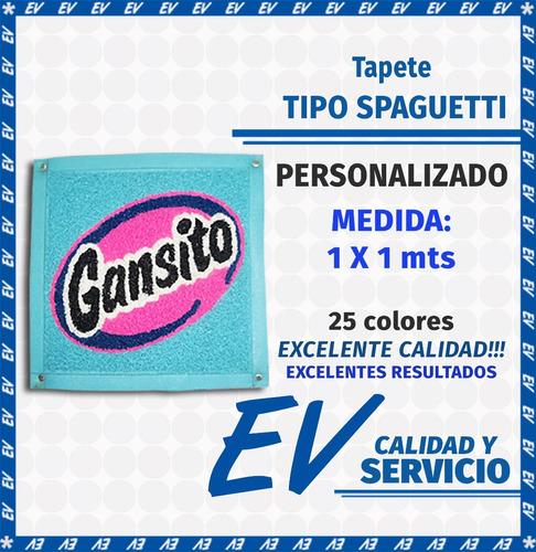 tapete tipo spaguetti personalizado (1.0 x 1.0) 25 colores