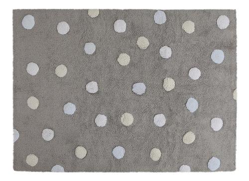 tapete topos tricolor - frete gratis - cinza-azul 120x160cm lorena canals