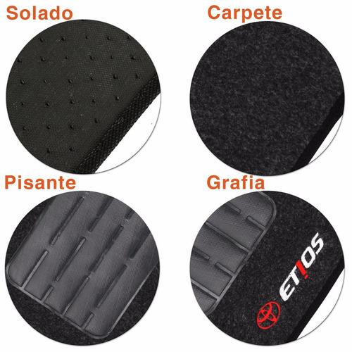 tapete toyota etios hacth 12 - 13 sedan 2012 grafite carpete