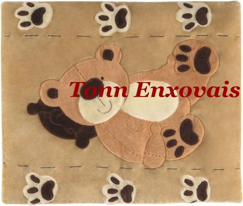tapete urso no travesseiro pelúcia antialérgico 1,15mx0,95m