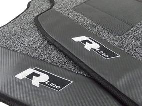 Tapete Vw Golf Rline Carpete Premium 12mm Base Pinada