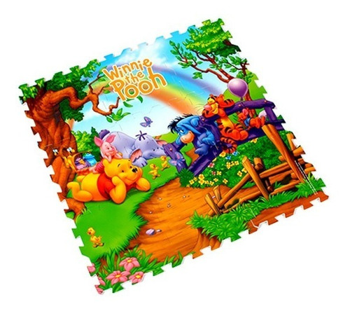 tapete winnie pooh póster goplas foamy envio gratis