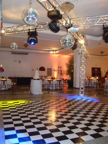 tapete xadrez - 4x4m - 16m² + dupla face - pista de dança