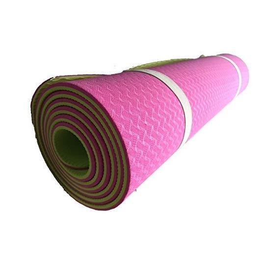Tapete Yoga Doble Capa Grueso 6mm Bolsa Rosa Suave Pilates ... b0b2f9d6d273