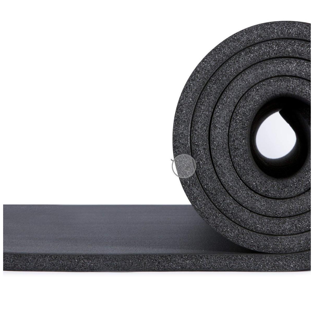 2dde95c3e tapete yoga preto em nbr 8mm com alças. Carregando zoom.