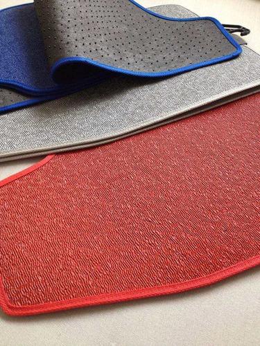 tapetes automotivos vw prata pvc universal base pinado cores