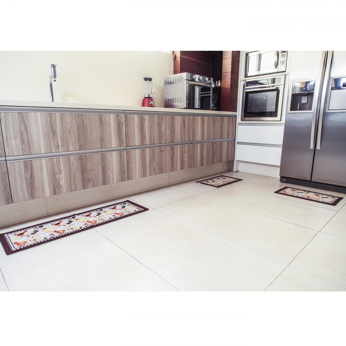 Jogo De Tapetes Para Cozinha 3 Pe As Pop Bella Casa Ci D R 69 90
