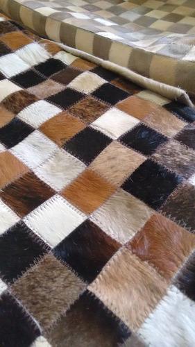 tapetes de couro legitimo malhado