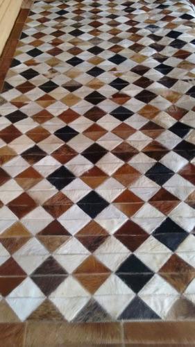 tapetes de couro legitimo xadrez