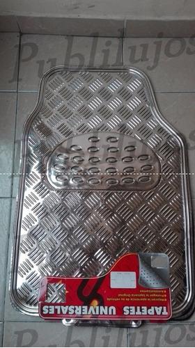 tapetes de lujo para carro cromados 4 piezas oferta promo