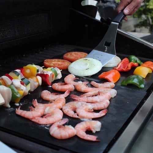tapetes de teflón para asar carne, mariscos, verduras y más