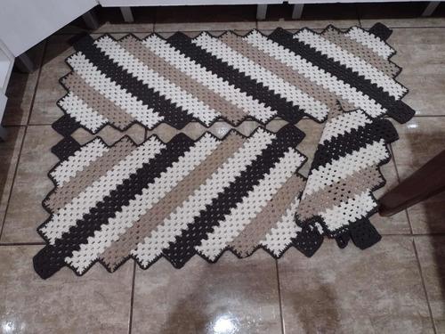 tapetes de todos os tipos e modelos em crochê fio 08