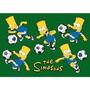 Alfombra Diversión Alfombras Sim Simpson Fútbol Diversión P