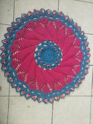 tapetes e sandalia com crocher
