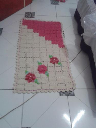 tapetes em crochês