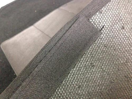 tapetes meriva 2003 a 2012 carpete preto com logo bordado gm